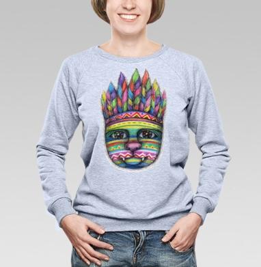 Вождь пушистых - Купить детские свитшоты с индейцами в Москве, цена детских свитшотов с индейцами  с прикольными принтами - магазин дизайнерской одежды MaryJane