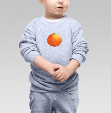 Апельсин - Купить детские свитшоты с фруктами в Москве, цена детских свитшотов с фруктами  с прикольными принтами - магазин дизайнерской одежды MaryJane