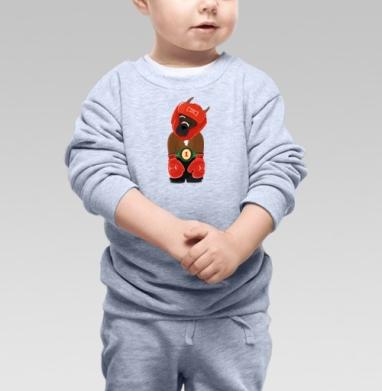 Боксёр, Cвитшот Детский серый меланж