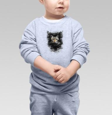 Кот - Купить детские свитшоты с кошками в Москве, цена детских свитшотов с кошками  с прикольными принтами - магазин дизайнерской одежды MaryJane