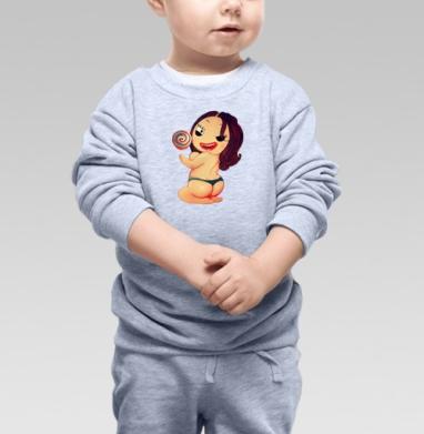 Cвитшот Детский серый меланж - Lollipop