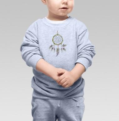 Cвитшот Детский серый меланж - Ловец слов