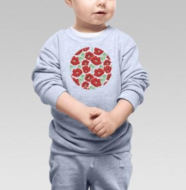 Маковое поле, Cвитшот Детский серый меланж