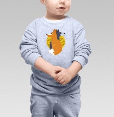 Moon - Купить детские свитшоты с волками в Москве, цена детских свитшотов с волками  с прикольными принтами - магазин дизайнерской одежды MaryJane