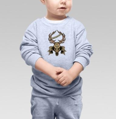 Олень, Cвитшот Детский серый меланж