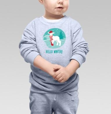 Cвитшот Детский, свитшот серый меланж - Футболки на заказ, майки на заказ