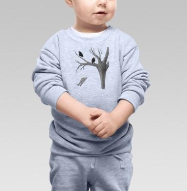 Птицы - Купить детские свитшоты с деревьями в Москве, цена детских свитшотов с деревьями  с прикольными принтами - магазин дизайнерской одежды MaryJane