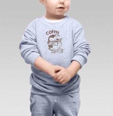 Сова , Cвитшот Детский серый меланж