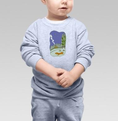 Зимний вечерок - Купить детские свитшоты с деревьями в Москве, цена детских свитшотов с деревьями  с прикольными принтами - магазин дизайнерской одежды MaryJane