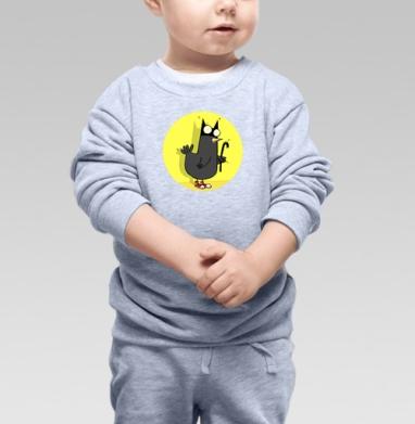BATMAN, Cвитшот Детский серый меланж
