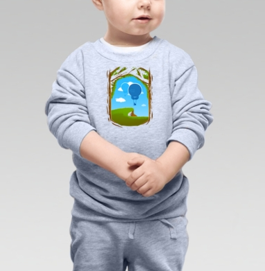 Воздушность.., Cвитшот Детский серый меланж