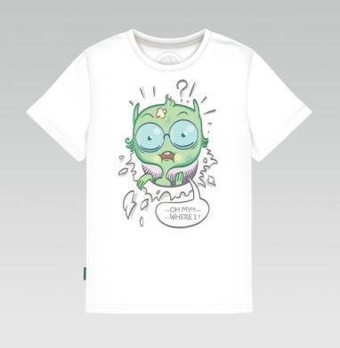 Детская футболка белая - Где это я...