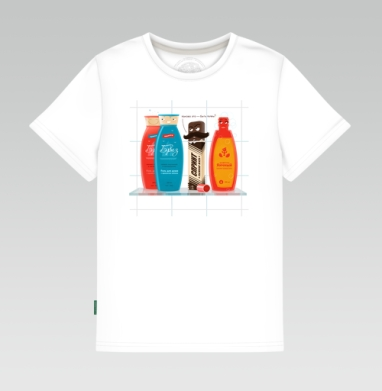 Детская футболка белая - Любопытная мазь