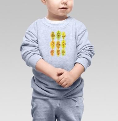 Cвитшот Детский серый меланж - Чашки чая
