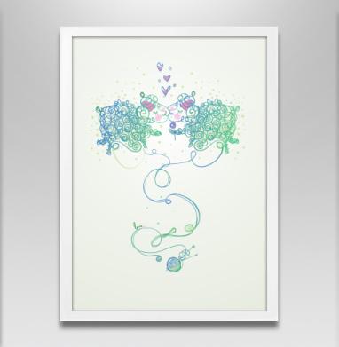 Ты моя валентинка - Постер в белой раме, символ