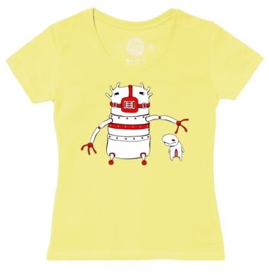 Футболка женская желтая - 2 монстрика