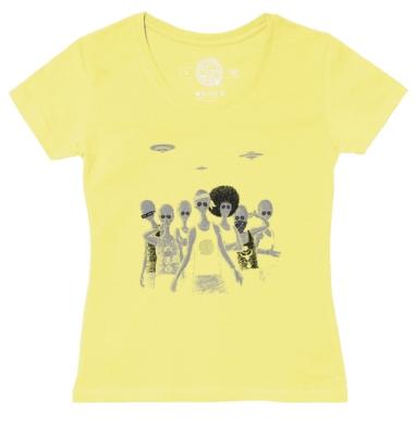 Футболка женская желтая - Гости