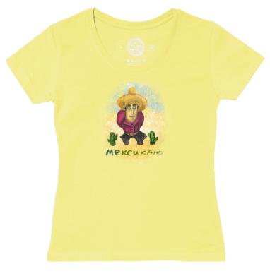 Футболка женская желтая - Мексикано