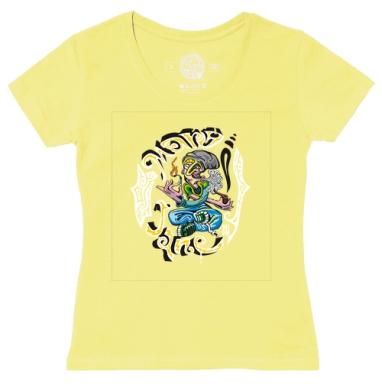 Футболка женская желтая - SMOKER