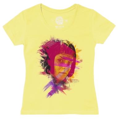 Футболка женская желтая - T-Sasha