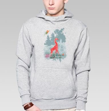 Жираф-мухомор в сказочном лесу - Толстовки детские
