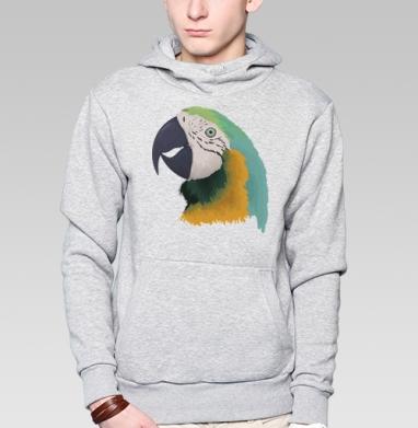 Parrot - Толстовка серая с капюшоном, цвет