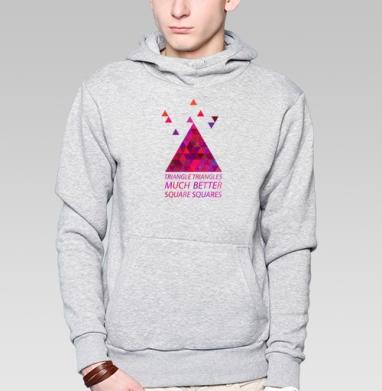 Треугольные треугольнички - Купить мужские толстовки ретро в Москве, цена мужских толстовок ретро  с прикольными принтами - магазин дизайнерской одежды MaryJane