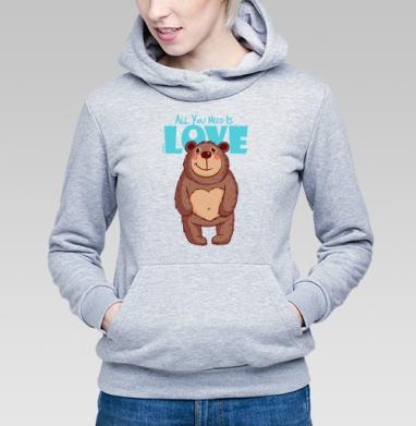 All You Need Is Love - Купить детские толстовки с подарком в Москве, цена детских толстовок с подарками  с прикольными принтами - магазин дизайнерской одежды MaryJane