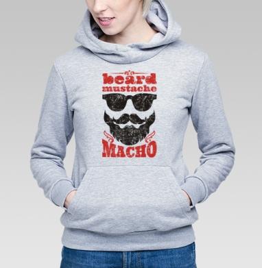 Борода... усы... мачо - Купить детские толстовки с бородой в Москве, цена детских толстовок с бородой  с прикольными принтами - магазин дизайнерской одежды MaryJane
