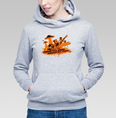 Чапаев против пришельцев  - Купить детские толстовки с оружием в Москве, цена детских  с оружием  с прикольными принтами - магазин дизайнерской одежды MaryJane