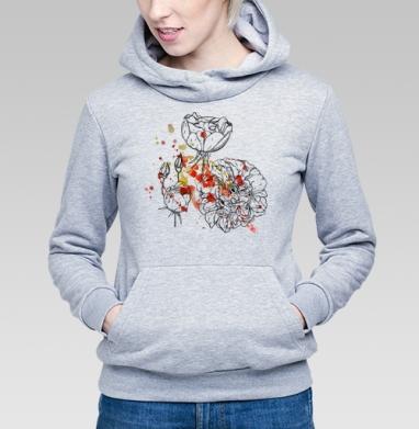 Цветочные брызги - Купить детские толстовки романтика в Москве, цена детских толстовок романтических  с прикольными принтами - магазин дизайнерской одежды MaryJane