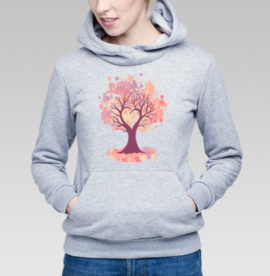 Дерево-сердце - Купить детские толстовки романтика в Москве, цена детских толстовок романтических  с прикольными принтами - магазин дизайнерской одежды MaryJane