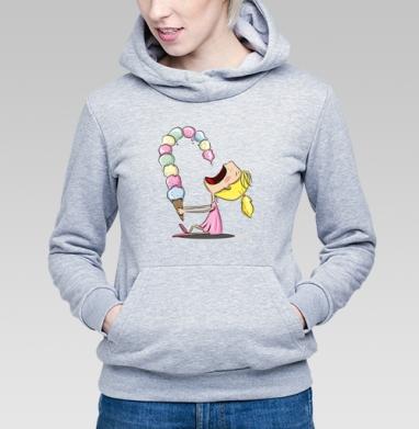 Девочка с мороженным  - Купить детские толстовки с мороженным в Москве, цена детских толстовок с мороженным  с прикольными принтами - магазин дизайнерской одежды MaryJane