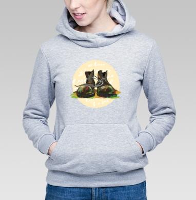Два сапога - в поле не воин - Купить детские толстовки военные в Москве, цена детских толстовок военных с прикольными принтами - магазин дизайнерской одежды MaryJane