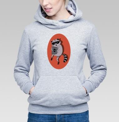 Енот ворует коврик - Купить детские толстовки с животными в Москве, цена детских толстовок с животными  с прикольными принтами - магазин дизайнерской одежды MaryJane