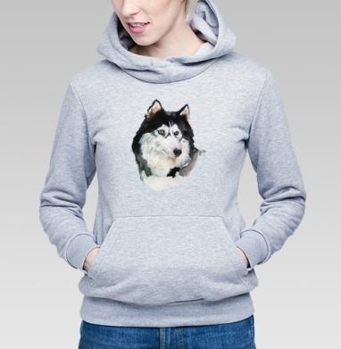 Голубоглазый хаски - Купить детские толстовки с волками в Москве, цена детских толстовок с волками  с прикольными принтами - магазин дизайнерской одежды MaryJane