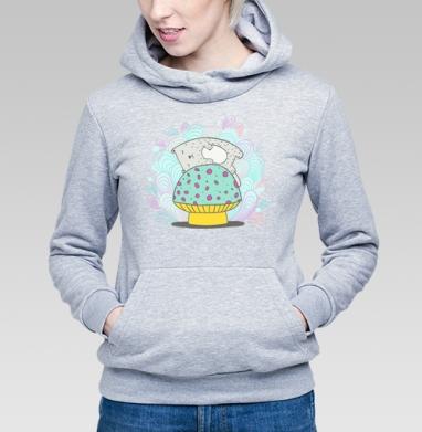 Кот и гриб - Купить детские толстовки с грибами в Москве, цена детских толстовок с грибами с прикольными принтами - магазин дизайнерской одежды MaryJane