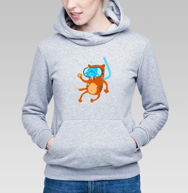 Кото дайвинг  - Купить детские толстовки с кошками в Москве, цена детских толстовок с кошками  с прикольными принтами - магазин дизайнерской одежды MaryJane