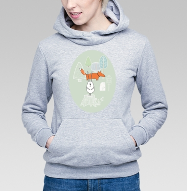 Лис и заяц - Купить детские толстовки с лисой в Москве, цена детских  с лисой  с прикольными принтами - магазин дизайнерской одежды MaryJane