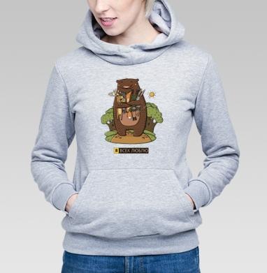 Любвеобильный медведь - Толстовки женские в интернет-магазине