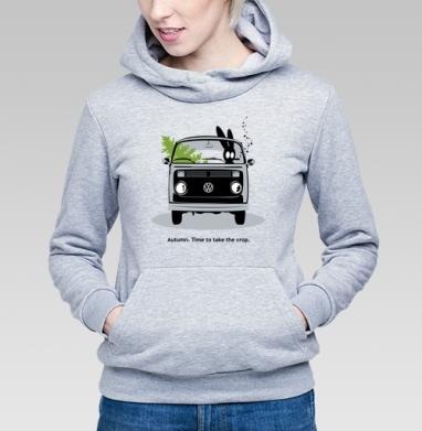 Осень. Время собирать урожай., Толстовка Женская серый меланж 340гр, теплая