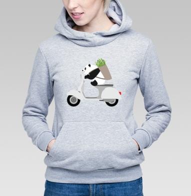 ПАНДА НА ВЕСПЕ - Купить детские толстовки с мотоциклами в Москве, цена детских толстовок с мотоциклами  с прикольными принтами - магазин дизайнерской одежды MaryJane