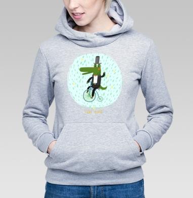 Прогулка - Купить детские толстовки с велосипедом в Москве, цена детских толстовок с велосипедом  с прикольными принтами - магазин дизайнерской одежды MaryJane