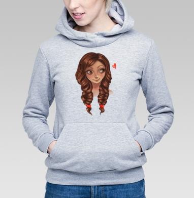 Романтичная девушка - Купить детские толстовки нежность в Москве, цена детских толстовок нежность  с прикольными принтами - магазин дизайнерской одежды MaryJane