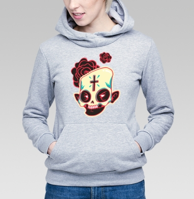 Сахарный череп - Купить детские толстовки с роами в Москве, цена детских толстовок с розой с прикольными принтами - магазин дизайнерской одежды MaryJane