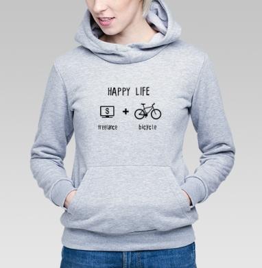 Счастливая жизнь - Купить детские толстовки с велосипедом в Москве, цена детских толстовок с велосипедом  с прикольными принтами - магазин дизайнерской одежды MaryJane