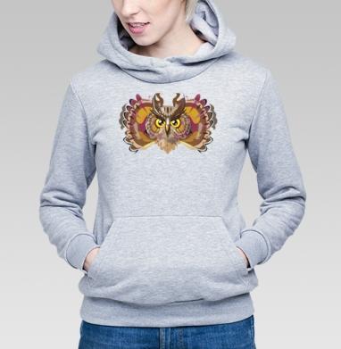 Толстовка Женская серый меланж 340гр, теплая - Совушка СОВА