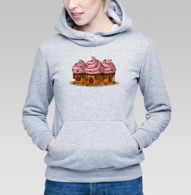 Sweet Home Cakes - Купить детские толстовки сладости в Москве, цена детских толстовок со сладостями  с прикольными принтами - магазин дизайнерской одежды MaryJane