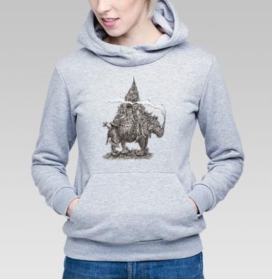 Урбанизированный носорог  - Купить детские толстовки с графикой в Москве, цена детских  с графикой  с прикольными принтами - магазин дизайнерской одежды MaryJane