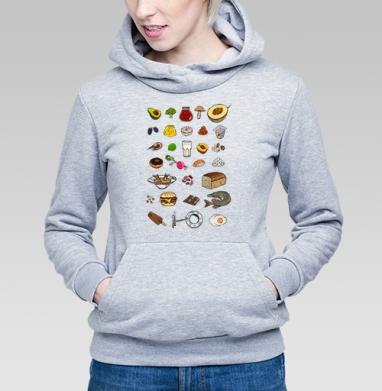 Вкусный алфавит - Купить детские толстовки с фруктами в Москве, цена детских толстовок с фруктами  с прикольными принтами - магазин дизайнерской одежды MaryJane